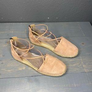 Eileen Fisher Lee Blush Espadrille Flat Size 9.5